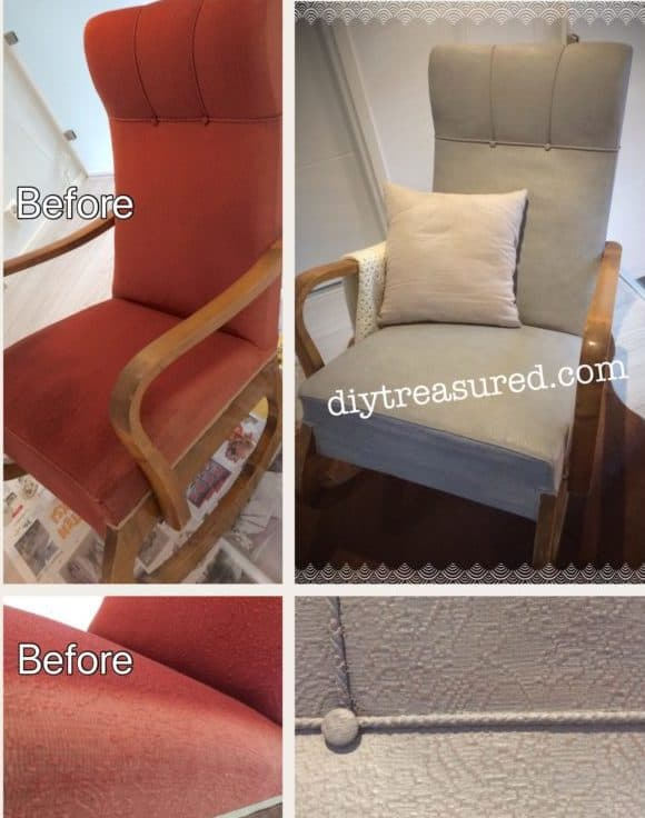 Painting fabric with chalk paint – Review of Rust Oleum's chalk paint