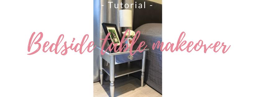 Bedside table makeover