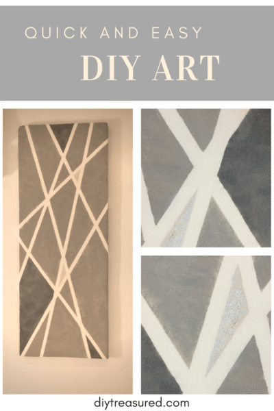 Easy DIY art with wall paint and masking tape
