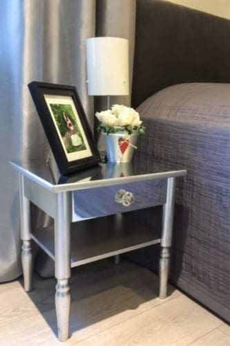 bedside table upcycled