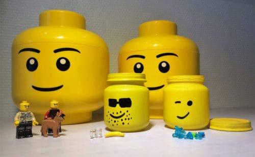 Easy lego head jars