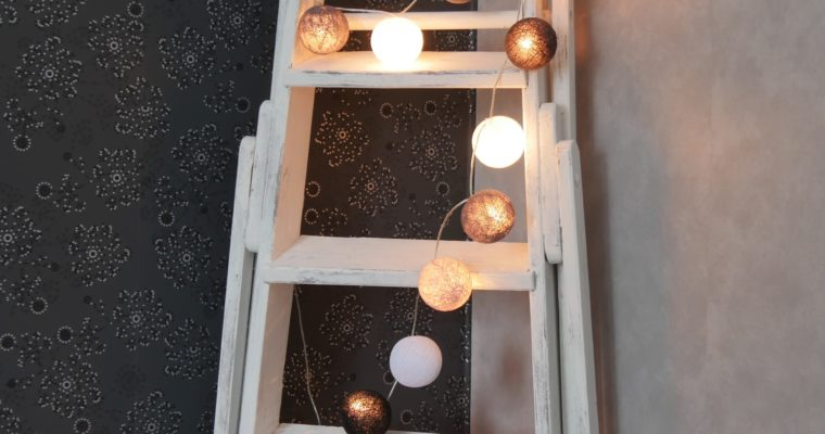 Old ladders as home decoration