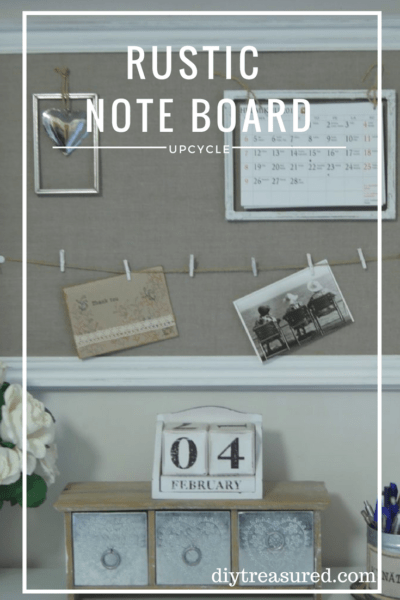 How to turn old needlepoint craft into a note board