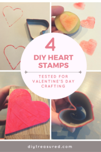 Heart stamps diy