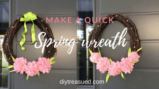 Quick Spring Wreath