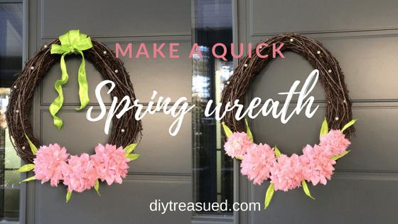 Quick Spring Wreath