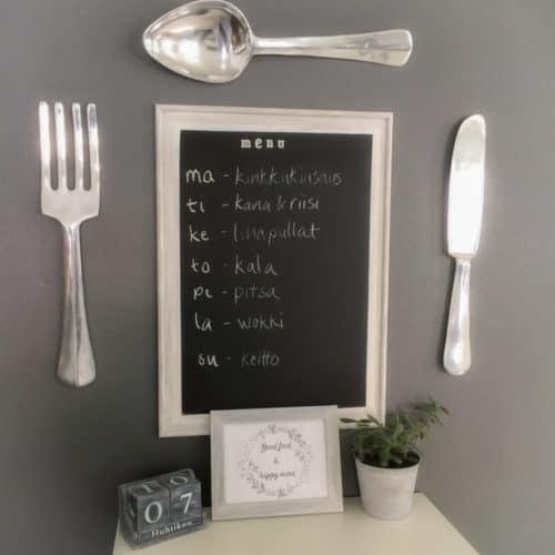 diy menu board for weekly meals