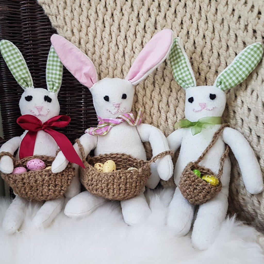 Upcycled ikea blanket into bunny